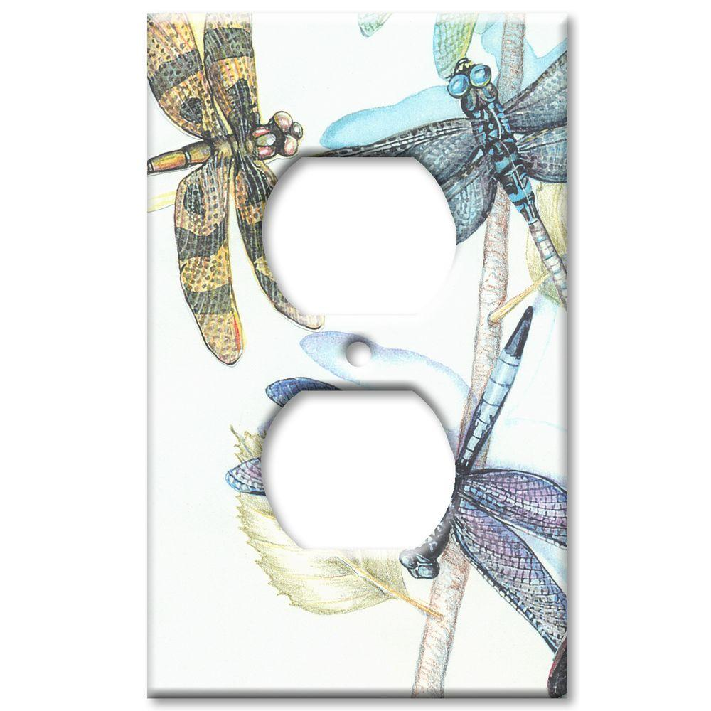 Art Plates Dragonflies - Oversize Outlet Cover