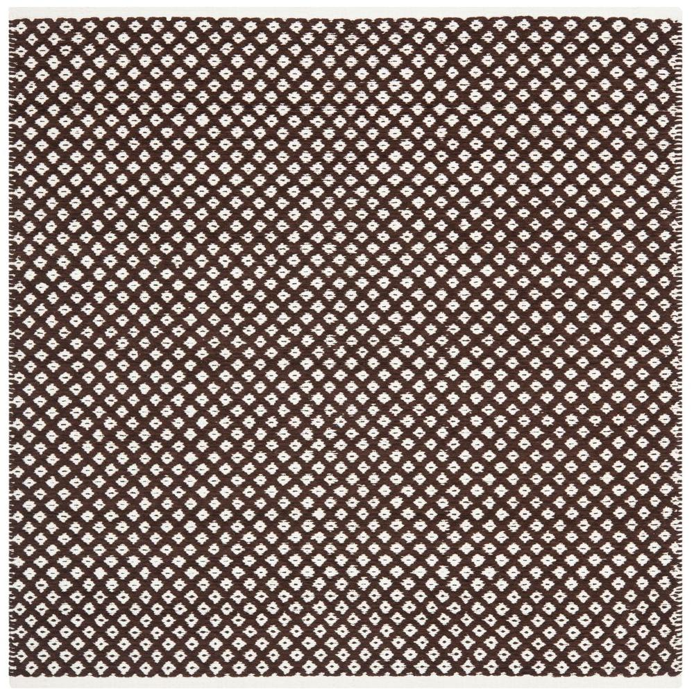 Boston Brown 4 ft. x 4 ft. Square Area Rug