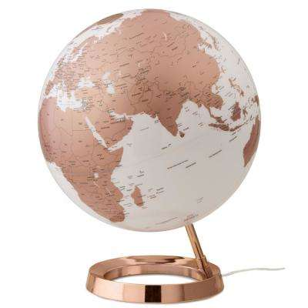 Light and Color 12 in. Copper Designer Series Desktop Globe