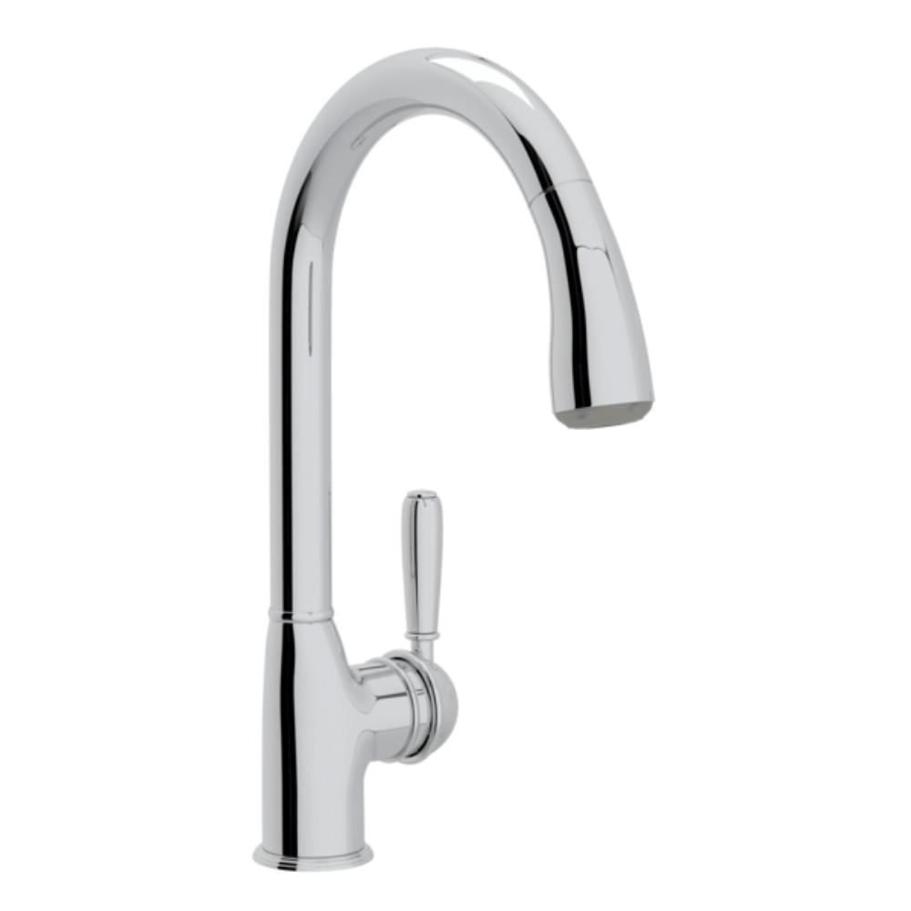 Rohl Pull Out Kitchen Faucet | Rohl Classic Single Handle Pull Down Sprayer Kitchen Faucet In