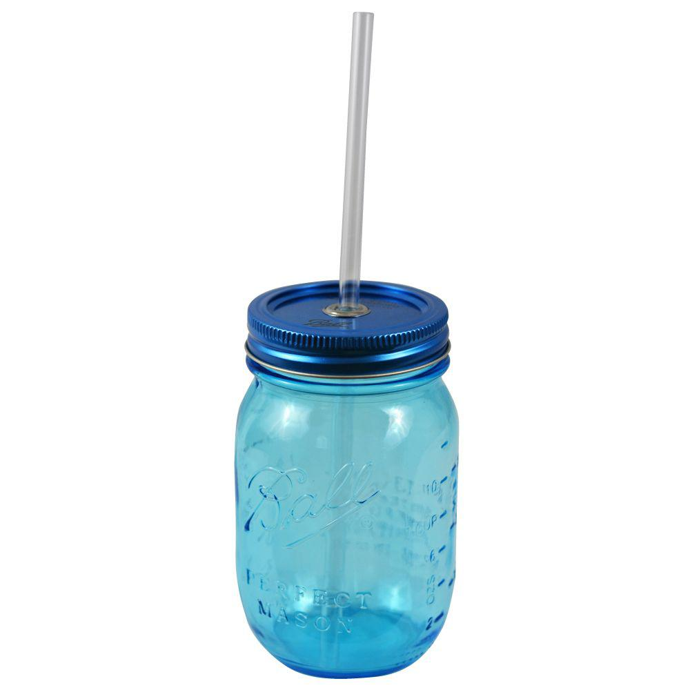 Redneck 16 oz. Blue Ball Mason Sipper Drinking Jar Authentic with