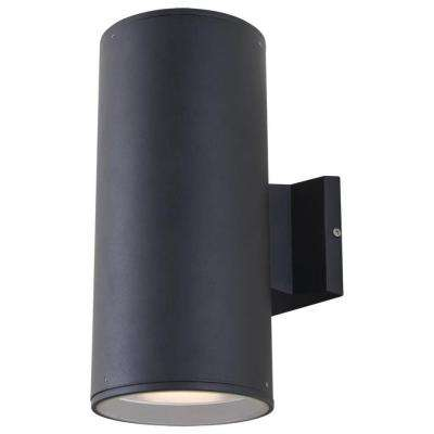 Celestial 2-Light Outdoor Matte Black Wall Sconce