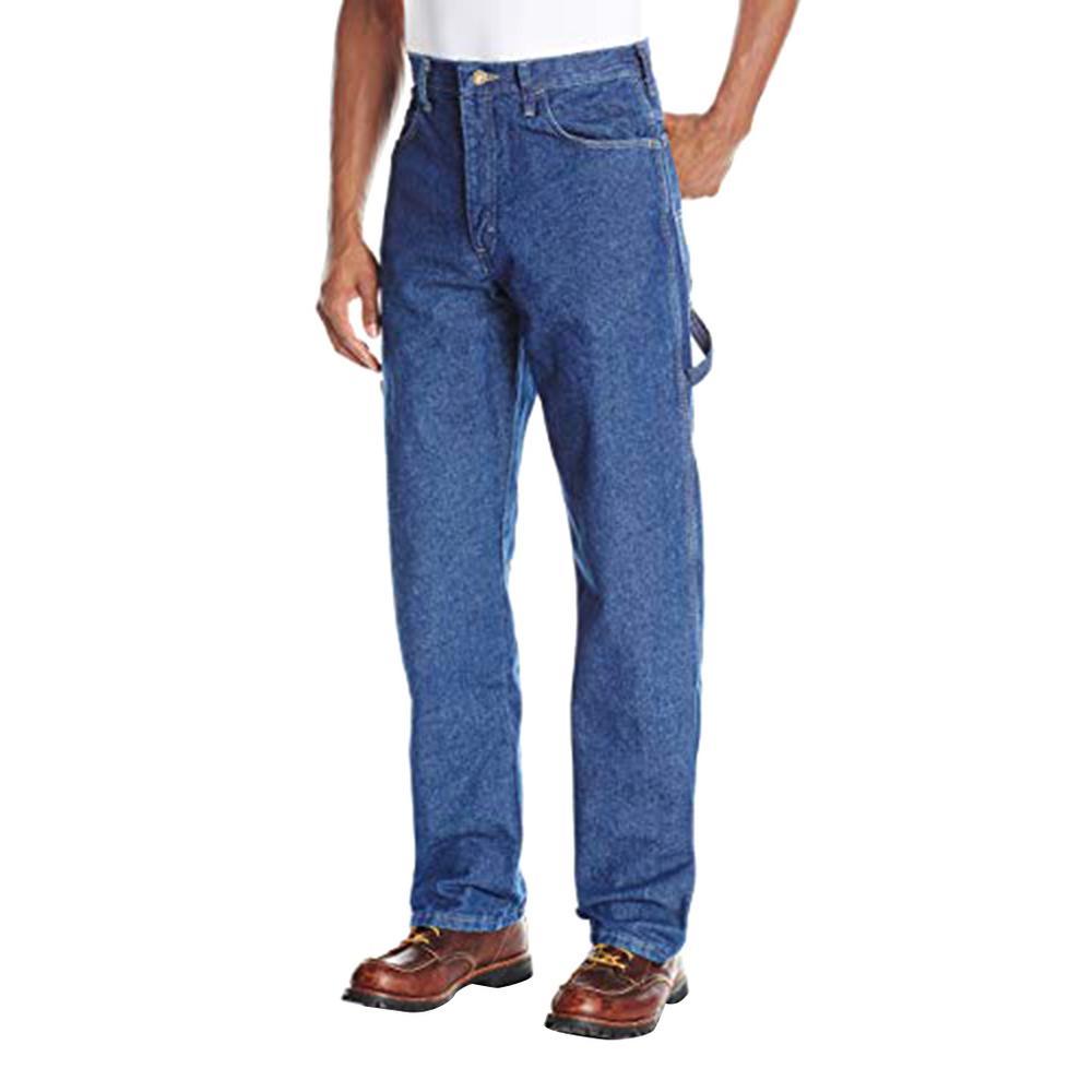 EXCEL FR/® Mens Bulwark Pre-washed Denim Dungaree Blue Denim 14.75 oz
