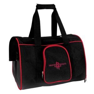 NBA Houston Rockets Pet Carrier Premium 16 in. Bag in Red