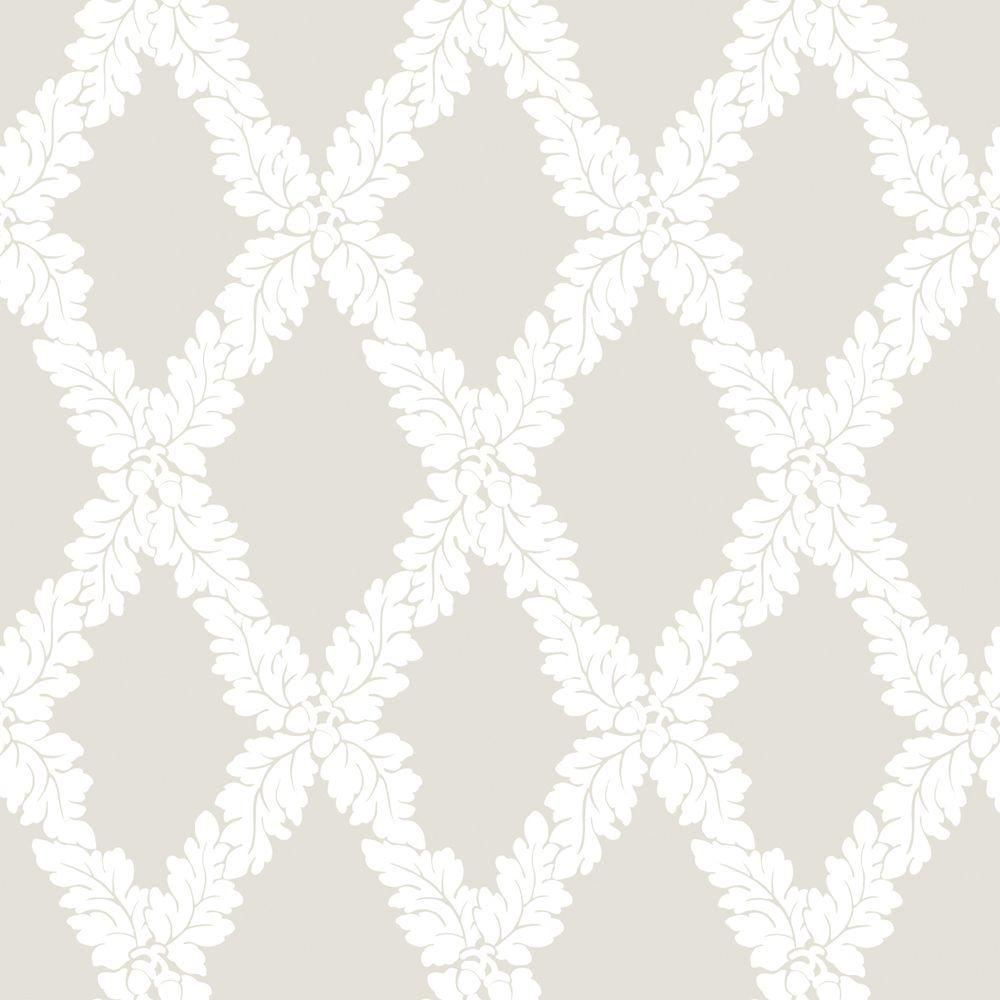 The Wallpaper Company 56 sq. ft. Neutral Suede Acorn Wallpaper