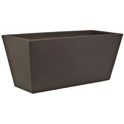 Toscana 10 in. L x 24 in. W x 10 in. H White Plastic Rectangle Patio Planter