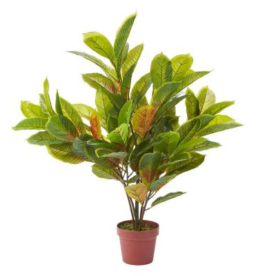 36 in. Faux Croton Plant Arrangement with Pot