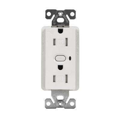 Aspire Z-Wave Wireless Duplex Receptacle, White Satin