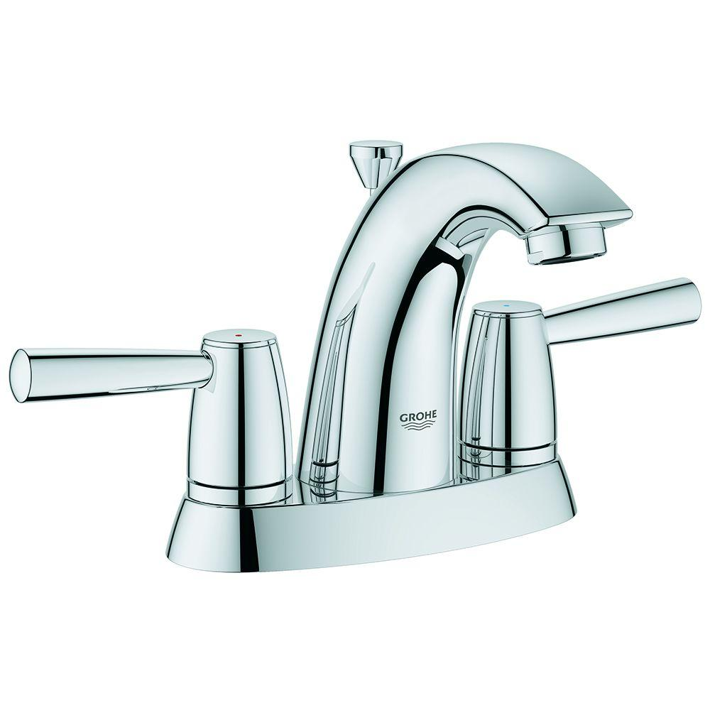 GROHE Arden 4 in. Centerset 2-Handle Bathroom Faucet in StarLight ...