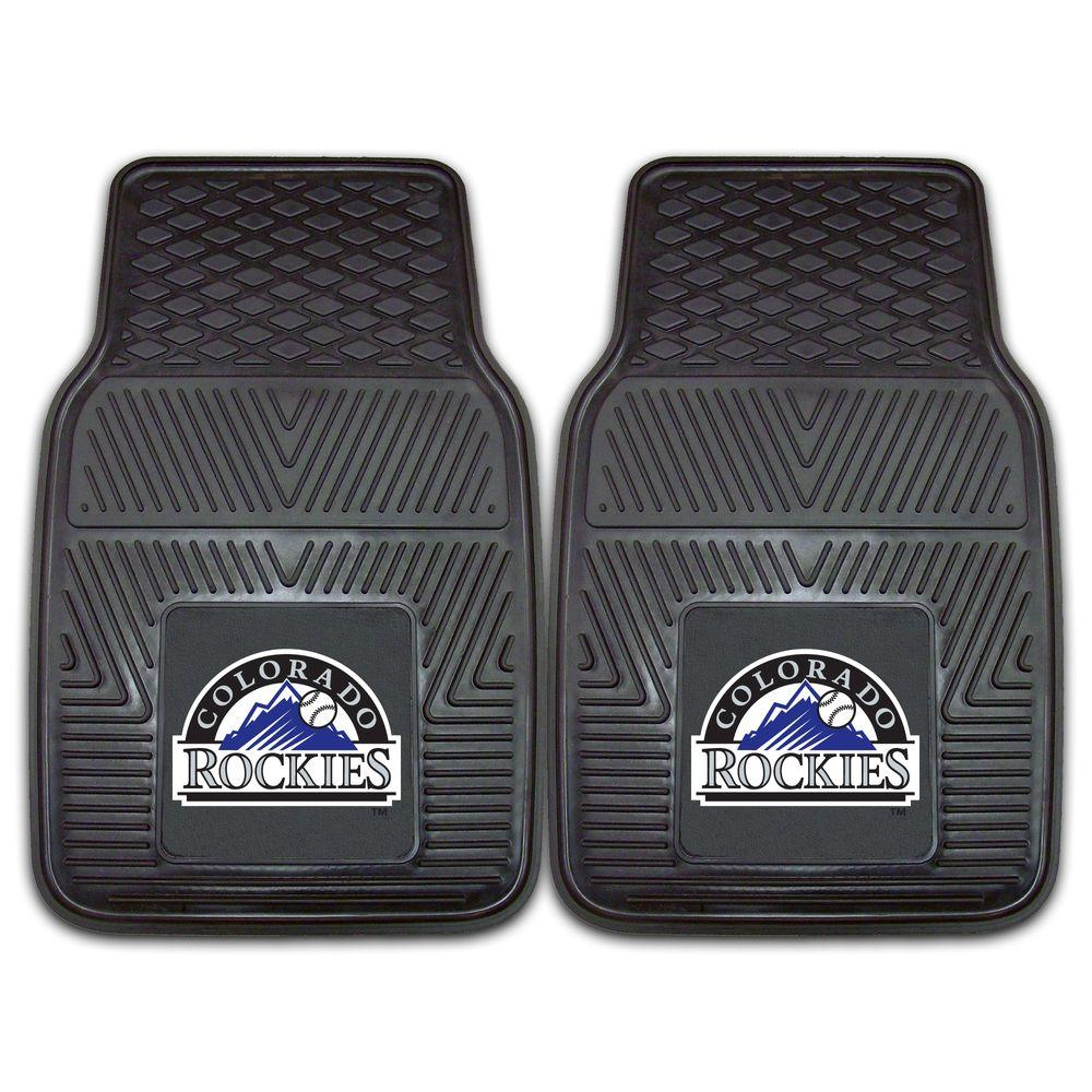 FANMATS Colorado Rockies 18 in. x 27 in. 2-Piece Heavy Duty Vinyl Car Mat