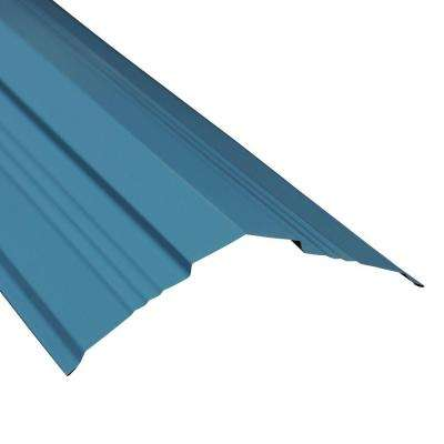 14 in. Universal Ridge Flashing in Ocean Blue