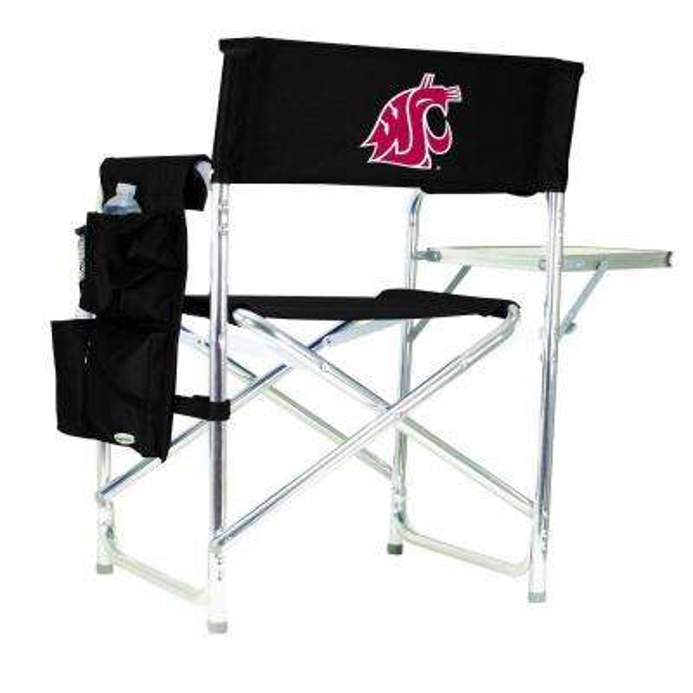 Washington State University Black Sports Chair with Digital Logo
