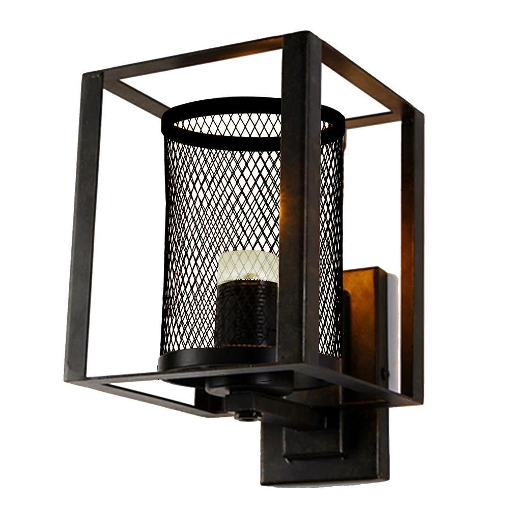 Dixon 7.5-Watt Antique Bronze Integrated LED Wall Sconce