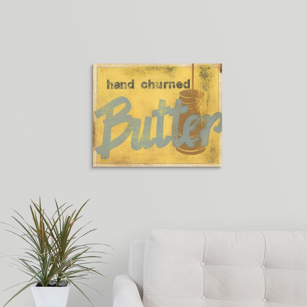 GreatBigCanvas ''Butter'' by Norman Wyatt Canvas Wall Art 1137980_24_20x16