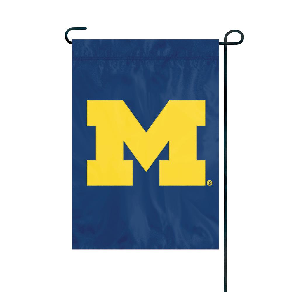Bon Party Animal, Inc. Michigan Wolverines Premium Garden Flag