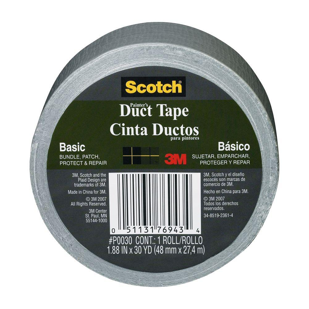 3M Scotch 1.88 in. x 30 yds. Basic Painter's Duct Tape (Case of 16)
