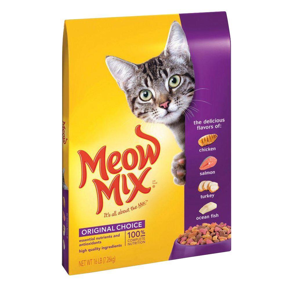 Meow Mix Cat Food Lb