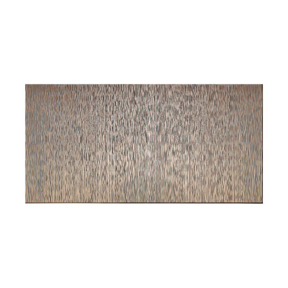 Fasade Ripple Vertical 96 in. x 48 in. Decorative Wall Panel in Brushed Nickel