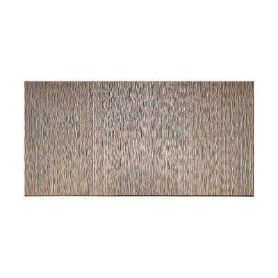 Ripple Vertical 96 in. x 48 in. Decorative Wall Panel in Brushed Nickel