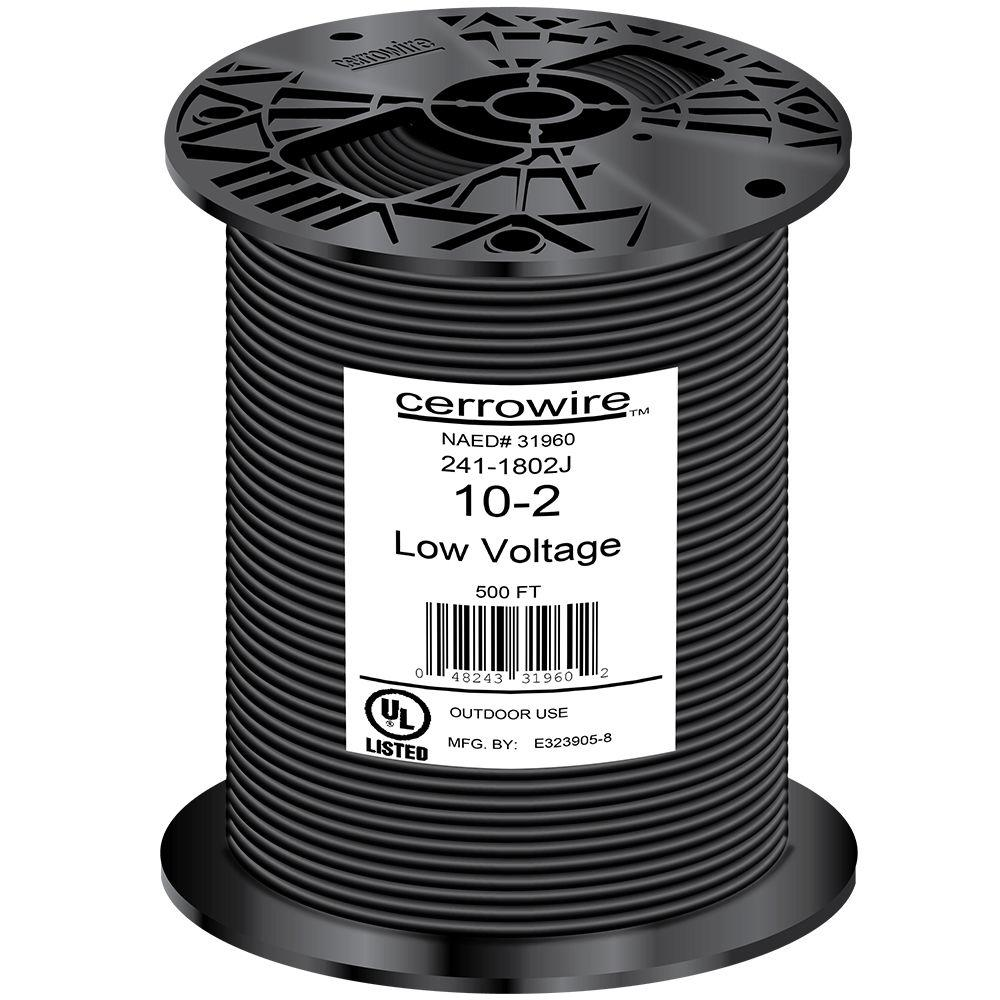 Outdoor Lighting Wire Cerrowire 500 ft 102 black stranded landscape lighting wire 241 102 black stranded landscape lighting wire workwithnaturefo