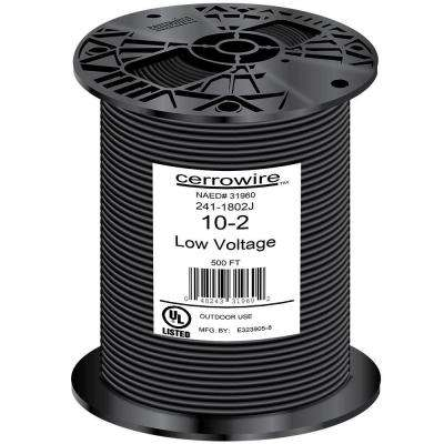 500 ft. 10/2 Black Stranded Landscape Lighting Wire