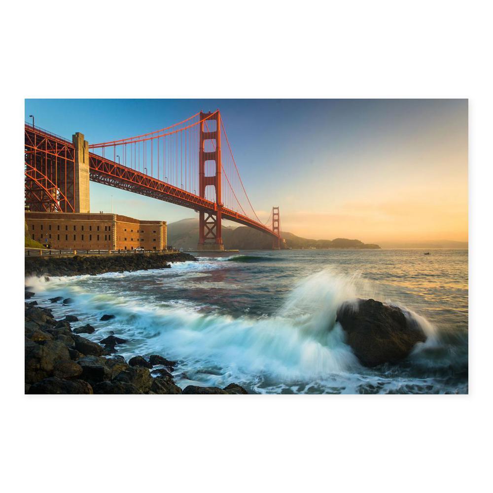 24 In X 36 The Golden Gate Bridge San Francisco California Printed Metal Wall Art