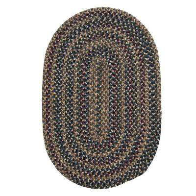 Winchester Federal Blue 6 ft. x 9 ft. Oval Braided Area Rug