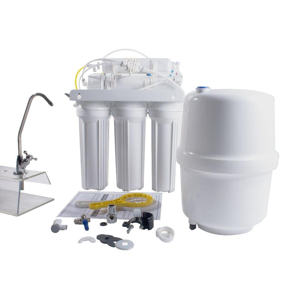 6-Stage Under-Sink Reverse Osmosis Water Filtration Syste...