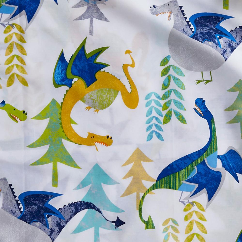 Dragons 200-Thread Count Organic Cotton Percale Sheet Set