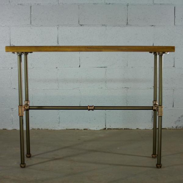 Office Console Table: OS Home And Office Furniture Brushed Brass Industrial Pipe