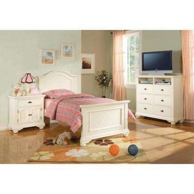 Twin - White - Standard - Bedroom Sets - Bedroom Furniture - The ...