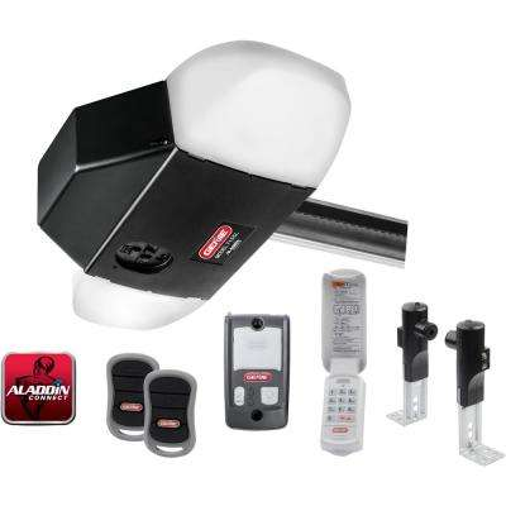 SilentMax LED Connect Ultra-Quiet Belt Drive Smart Garage Door Opener w/  LED lighting and Battery Backup + Aladdin