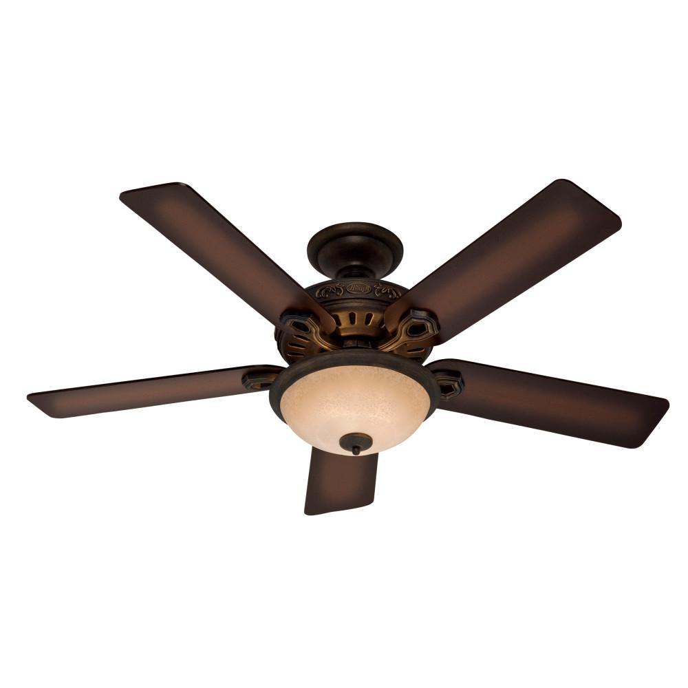 Hunter 52 in. Indoor Midnight Copper Ceiling Fan with Light Kit
