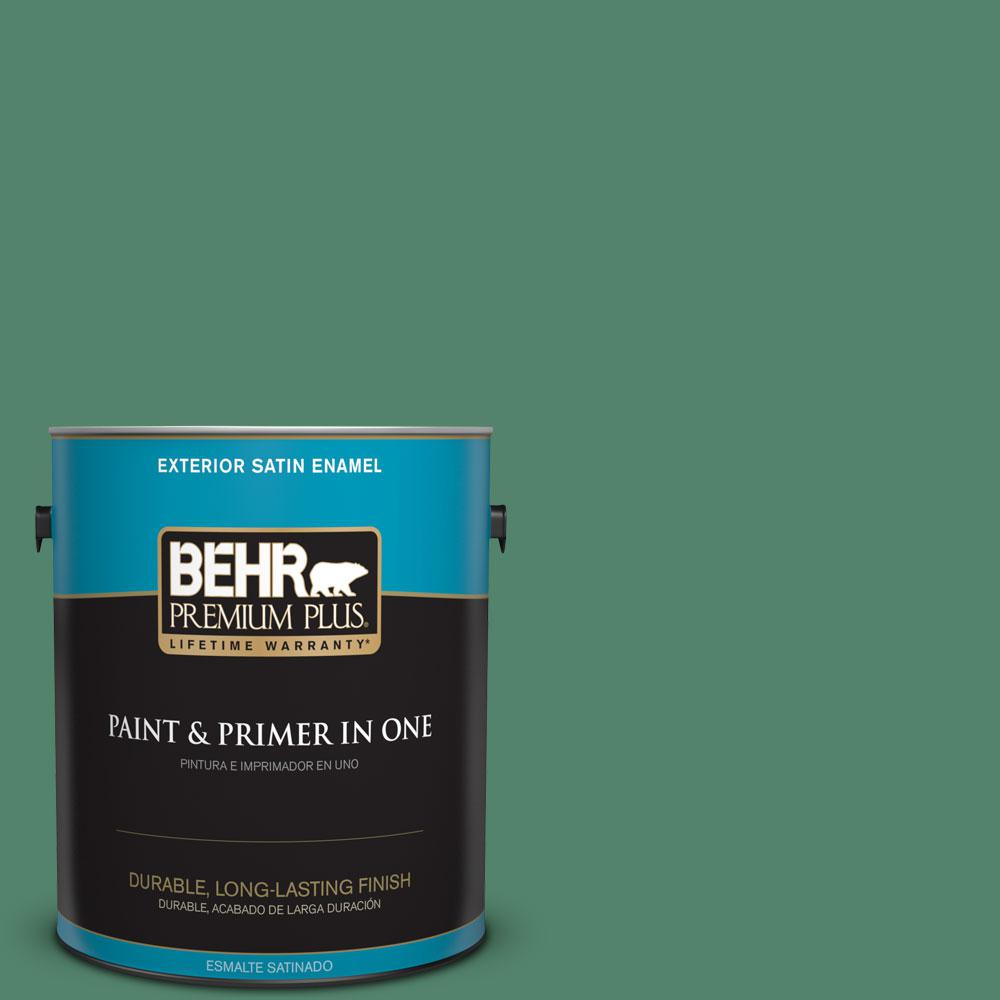 1-gal. #M420-6 Tournament Field Satin Enamel Exterior Paint