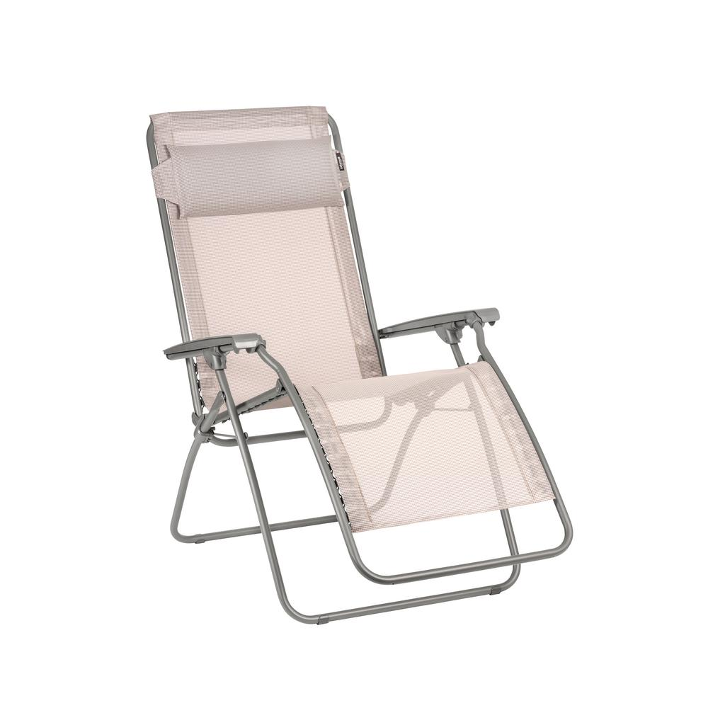 R Clip Magnolia Steel Frame Folding Zero Gravity Reclining Lawn Chair