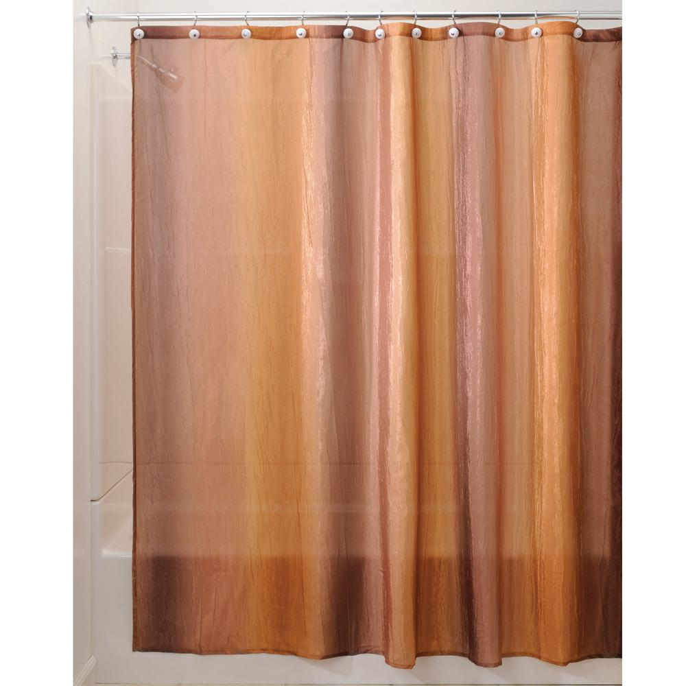 Interdesign Ombre Print Shower Curtain In Brown Gold 35803 The