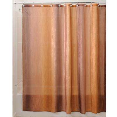 Ombre Print Shower Curtain in Brown/Gold
