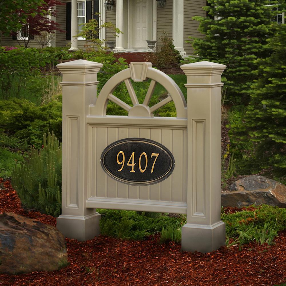 Winchester 38-1/2 in. x 35 in. Plastic Address Sign