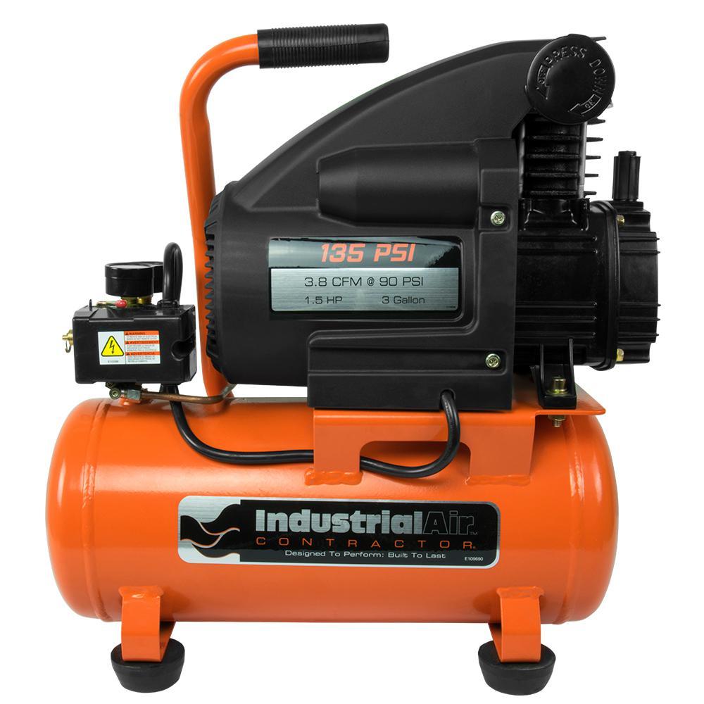 3 Gal. 1.5 HP Portable Electric Hot Dog Air Compressor