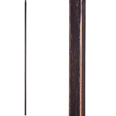Aalto Modern 44 in. x 0.5 in. Oil Rubbed Bronze Plain Square Bar Solid Wrought Iron Baluster