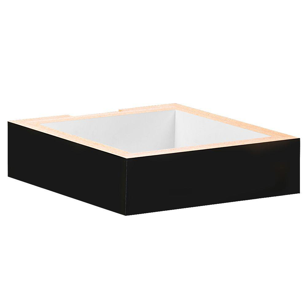 Salsbury Industries 31000 Series 15 in. W x 4 in. H x 15 in. D Base for Wood Cubbies in Black