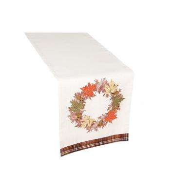 13 in. x 72 in. Maple Wreath Fall Table Runner