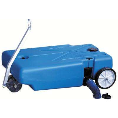 25 Gal. Pneumatic 4-Wheeler Polyethylene Tote-Along RV Waste Tank With 3 in. Waste Valve
