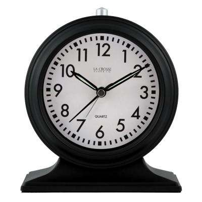 Silent Sweep Black Mantel Alarm Clock