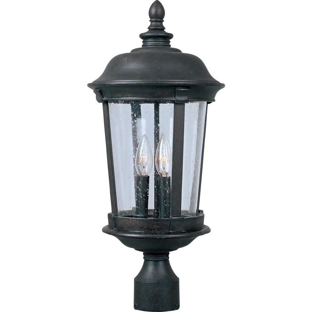 maxim lighting dover vivex 3 light bronze outdoor pole post mount