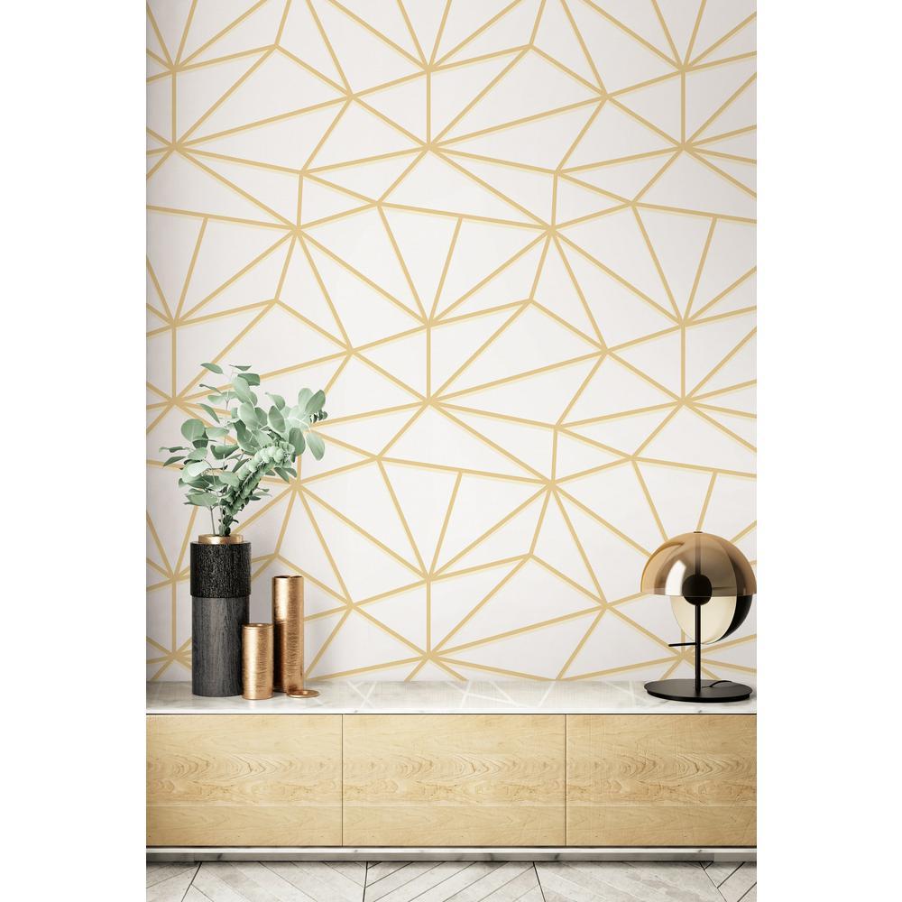 Quartz Geometric Paper Strippable Roll (Covers 60.75 sq. ft.)