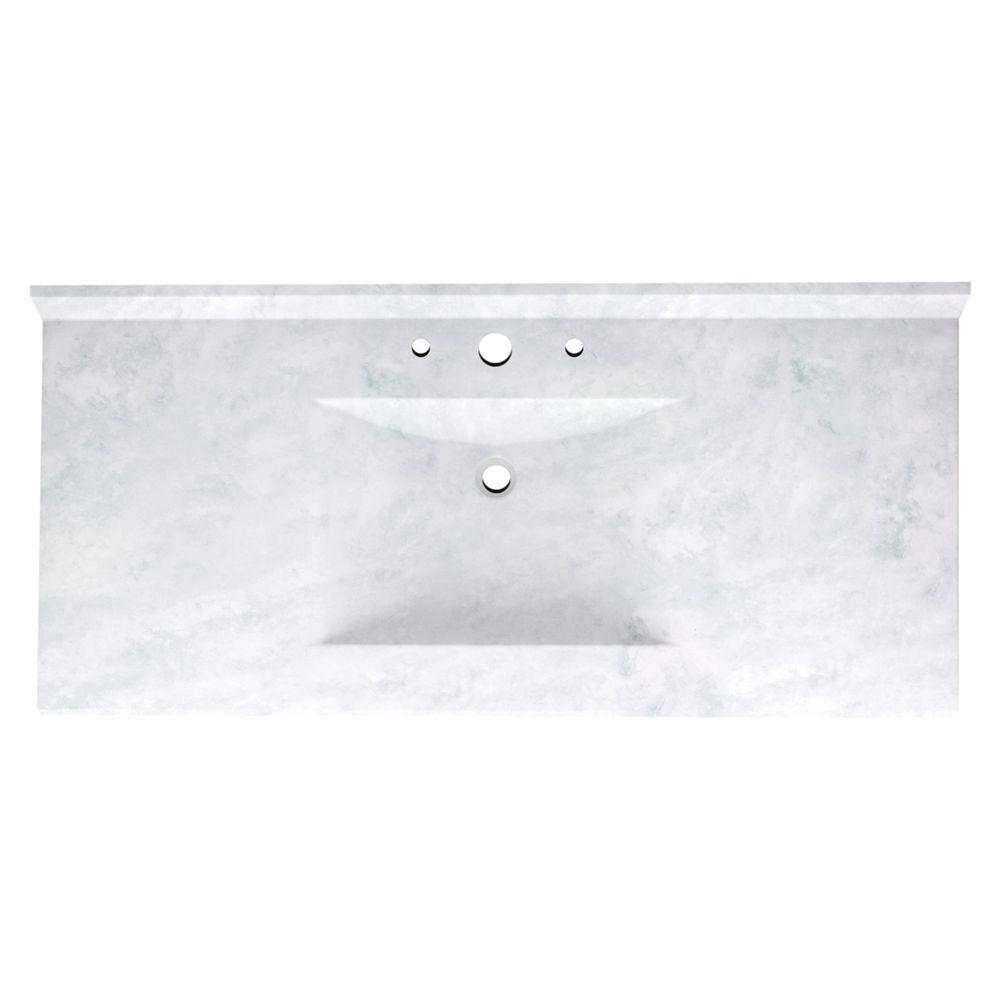 Gray Vanity Tops Bathroom Vanities The Home Depot