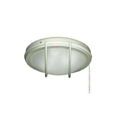 163 Indoor Outdoor Low Profile Brushed Nickel Ceiling Fan Light