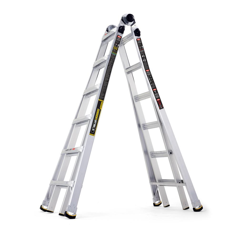 Gorilla Ladders 26 ft. Reach MPX Aluminum Multi-Position Ladder with ...