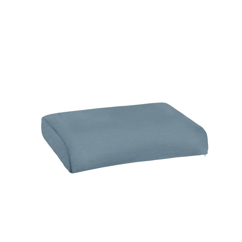 Brown Jordan Marquis Replacement Outdoor Ottoman Cushion in Denim
